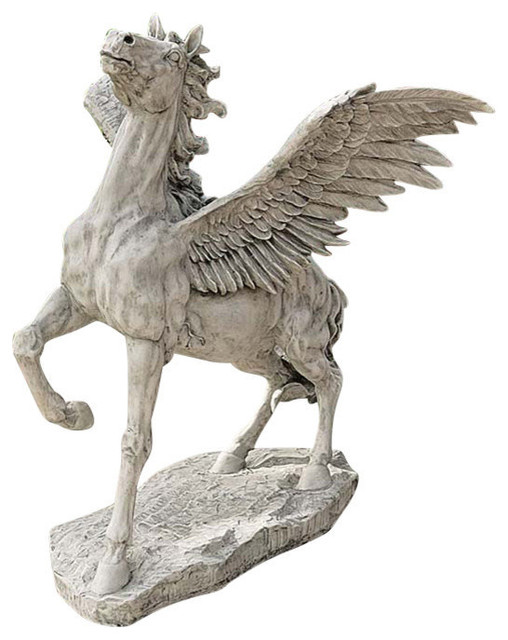 Grand Pegasus Winged Horse Sculpture Garden Statues And