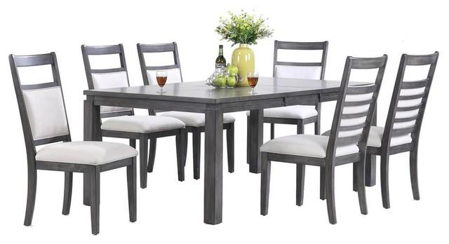 Shades Of Gray 7-Piece Dining Set.