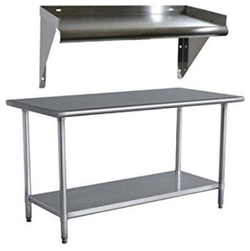 Stainless Steel 48x24 Utility Work Bench Table With Shelf.