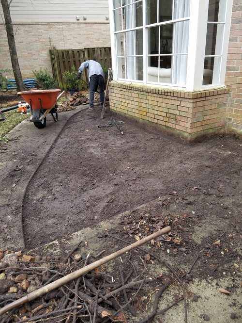 New bullrock flower bed with low maintenance plants for No maintenance flower bed