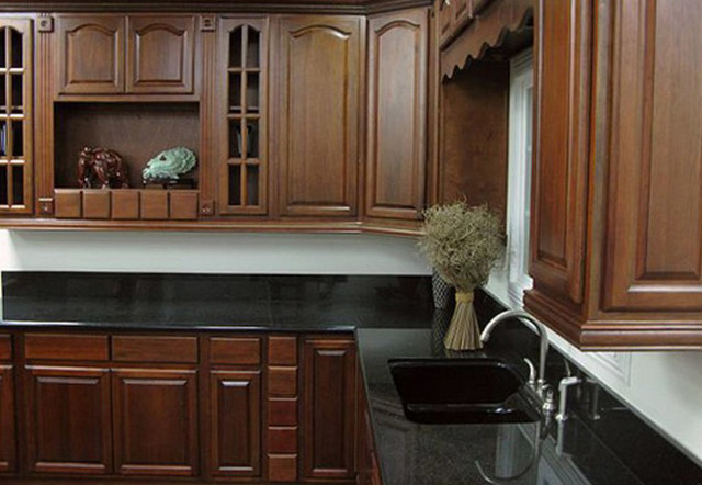 Cherry Walnut Kitchen Cabinets Home Design Traditional Columbus By Lily Ann Cabinets