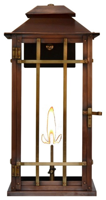 Shop Houzz The Coppersmith Bad Lands Gas Lantern By The Coppersmith Bl18 Gas Outdoor Wall