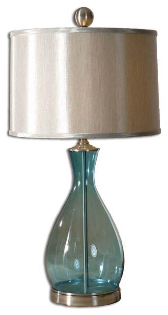 Meena Blue Glass Table Lamp.