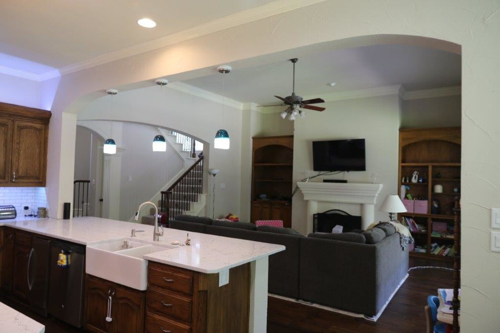 Transitional Kitchen Remodel with Wall Removal