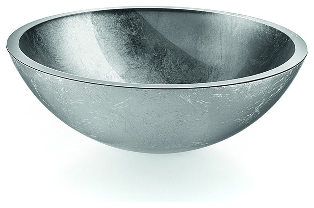 Lb Round Glass Vessel Sink Bowl Contemporary Bathroom Sinks By