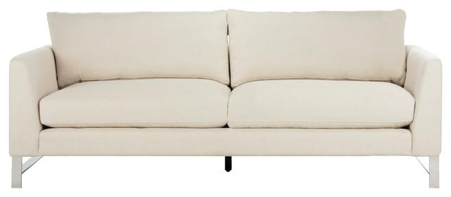Safavieh Criselle Linen Blend Sofa - Contemporary - Sofas - By Safavieh
