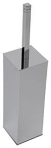 Cubis-Plus Free Standing WC Brush Holder, Satin Nickel