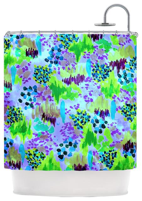 Kess InHouse Ebi Emporium Lagoon Love Lavender Green