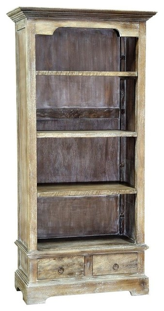 Small Rustic Bookcase Farmhouse Bookcases By Shopladder