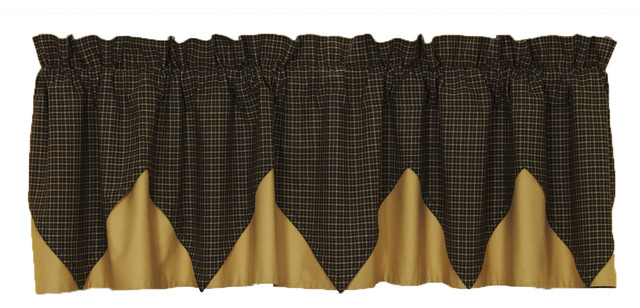 Kettle Grove Layered Plaid Valance.