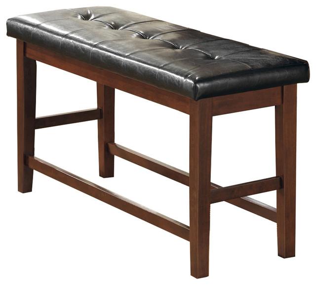 viviana counter height bench brown contemporary dining benches