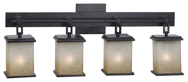 Mesa Lantern Vanity Light, Bronze.