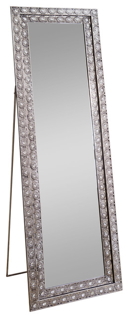 Melania Floor Mirror - Traditional - Floor Mirrors - by Abbyson Living