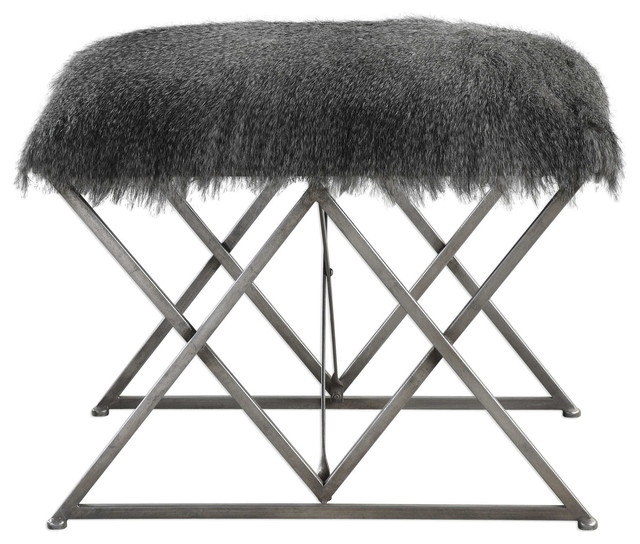 Enjoyable Uttermost Astairess Fur Small Bench Cjindustries Chair Design For Home Cjindustriesco