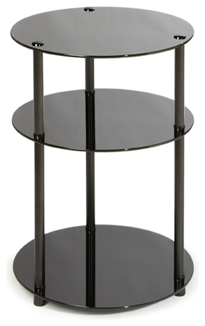 Convenience Concepts 3 Tier Round Table Side Tables And