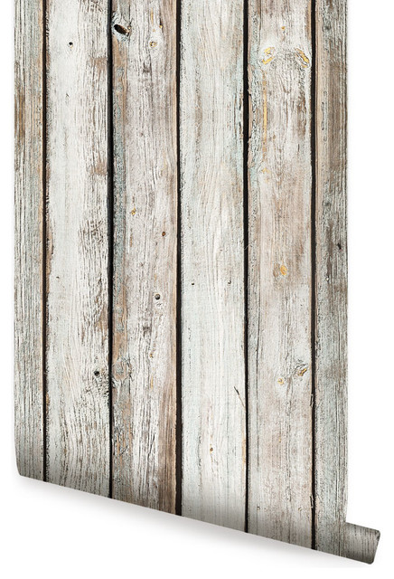 White Vintage Wood Wallpaper L And Stick 24 X48