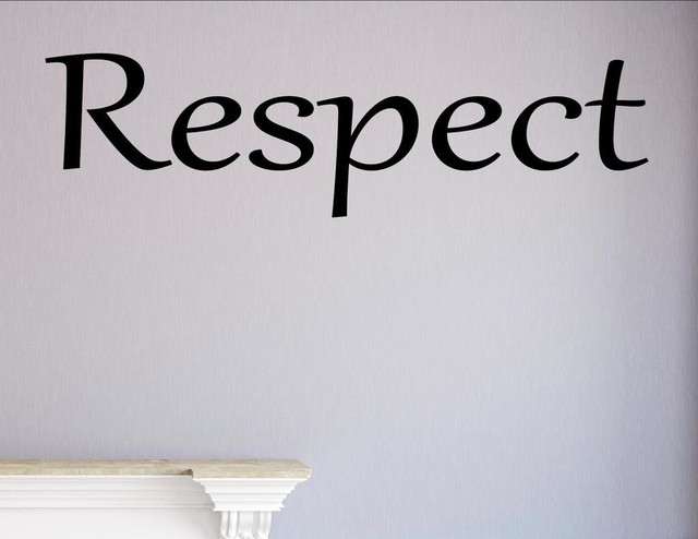 Respect Wall Decor Stickers Contemporary Wall Decals by