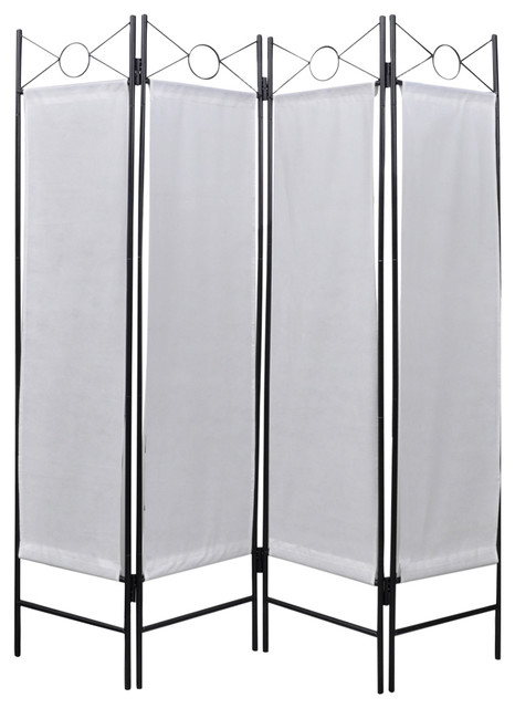 VidaXL Panel Room Divider Privacy Folding Screen White X - 4 panel room divider