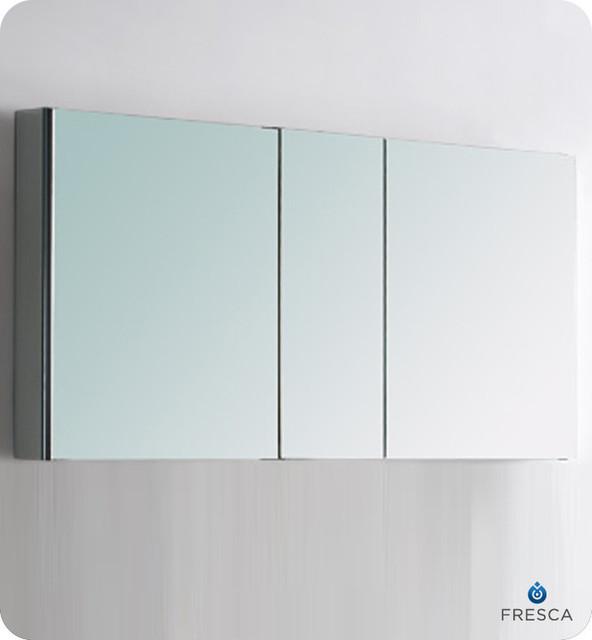 "50"" Wide Bathroom Medicine Cabinet With Mirrors - Modern - Medicine Cabinets - by Modern Bath House"