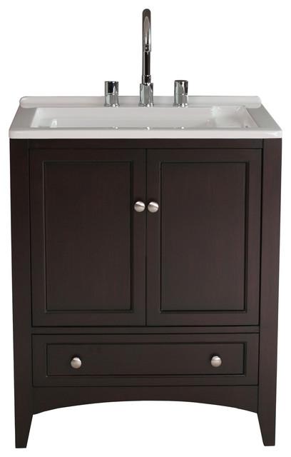 27 espresso laundry utility sink contemporary bathroom vanities and sink