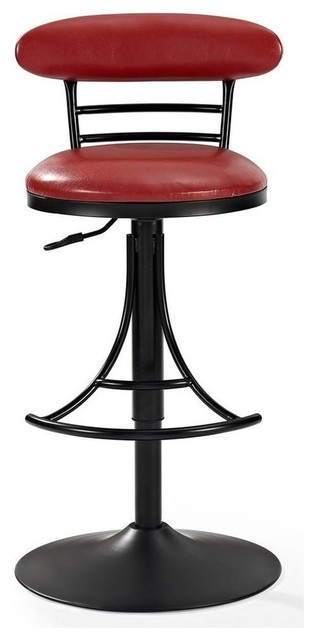 Jasper Counter Stool With Red Cushion
