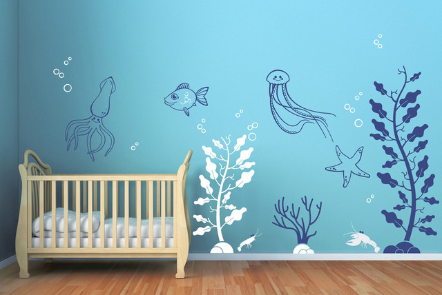 Under the Sea Decals Contemporary Wall Decals by Cherry Walls