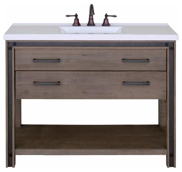 Urban Metallo Vanity Cabinet 48 Transitional Bathroom Vanities And Sink