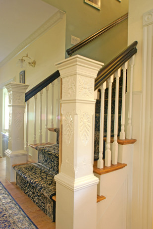 Cummings Architects LLC, Ipswich, Massachusetts 01938 :: Historic Preservations traditional staircase