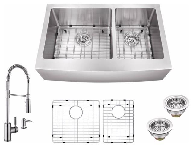 """Cahaba Casc0099 35-7/8""""x20-3/4"""" 16 Gauge Kitchen Sink."""