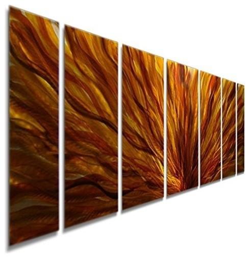 """Fall Plumage 7-Panel Wall Artwork By Jon Allen, 68""""x24"""". -1"""