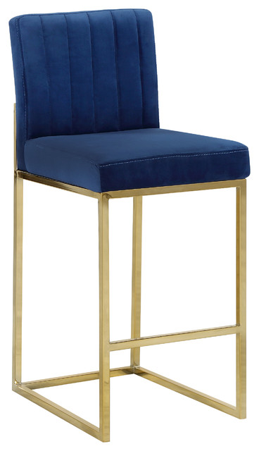 Giselle Velvet Counter Stool Contemporary Bar Stools