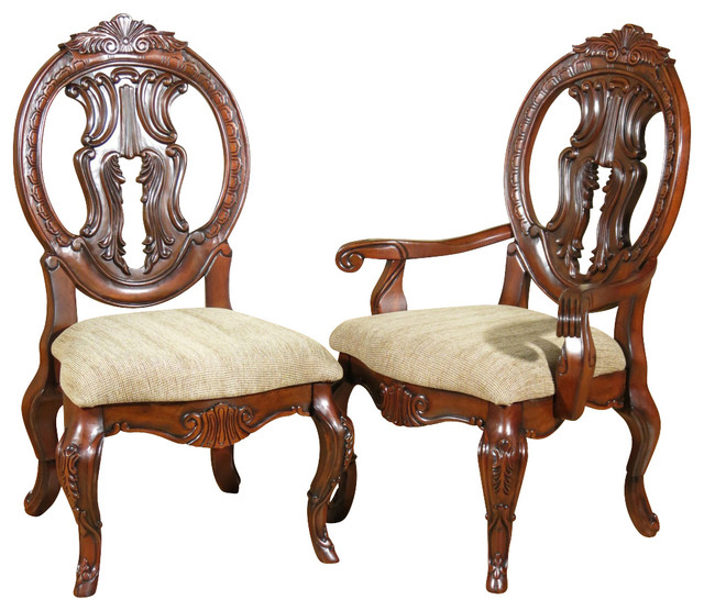 Set of 8 Solid Mahogany Victorian Round Back Dining Chairs
