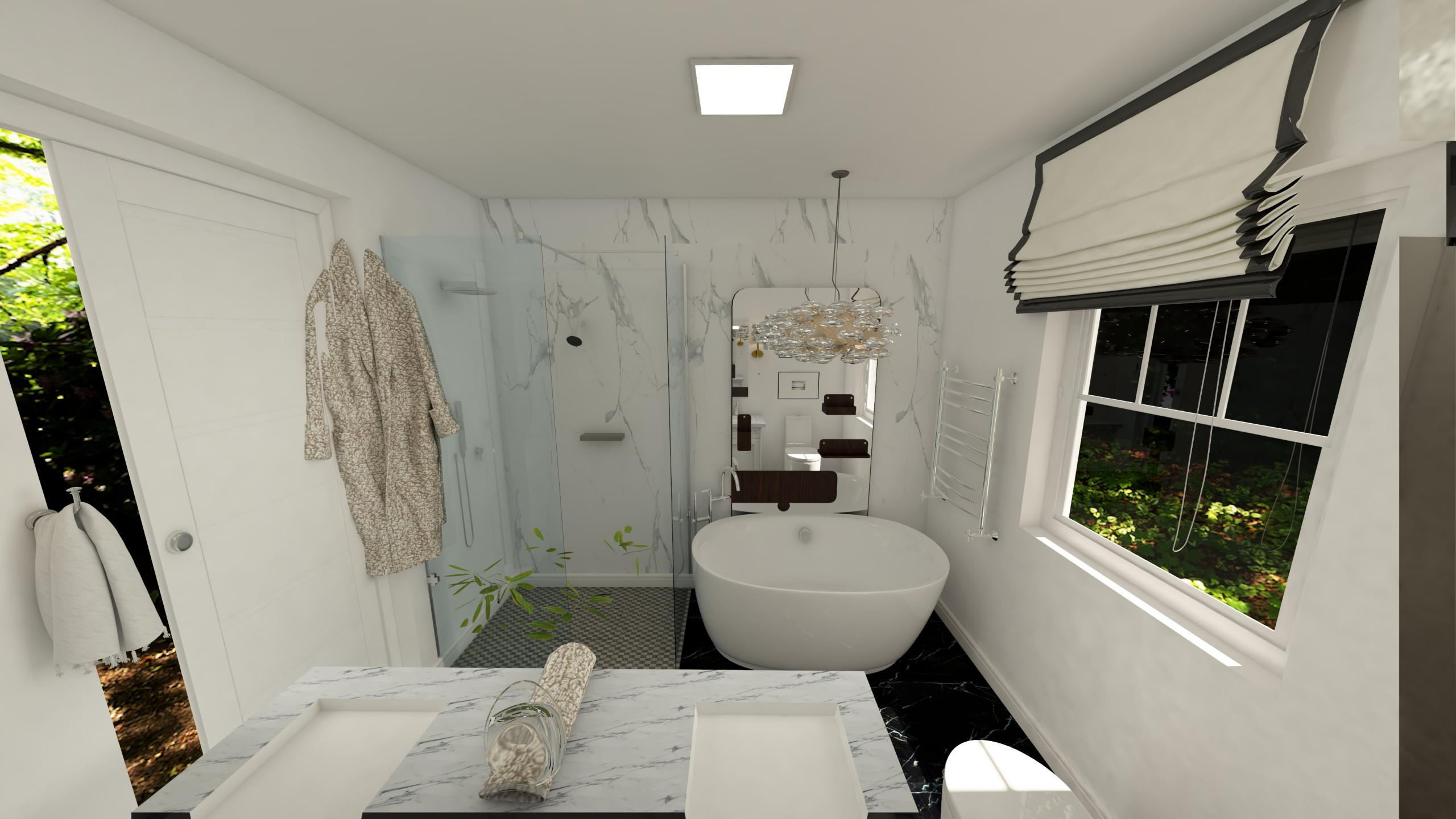 Digital Image and Design for Bathroom Remodel