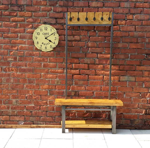 Industrial range industriel meuble d 39 entr e par red cottage furniture - Meuble d entree industriel ...