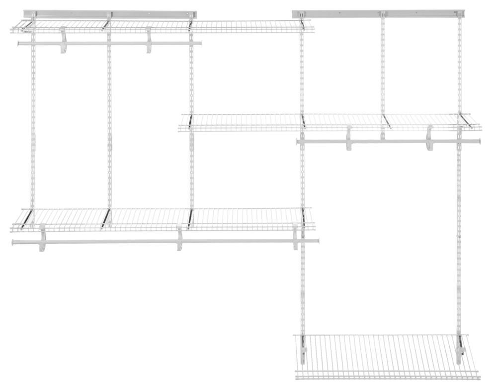 ClosetMaid 7880800 ShelfTrack 4 to 6 Foot Wide Closet System Kit Chrome