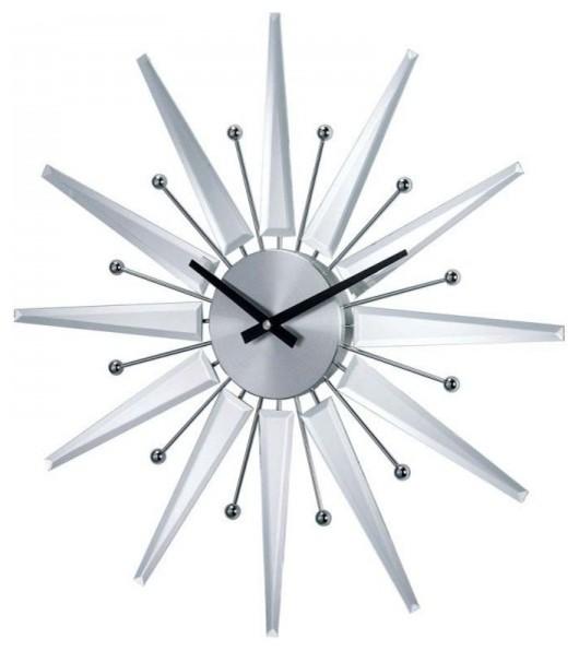 george nelson mirrored starburst clock mirror