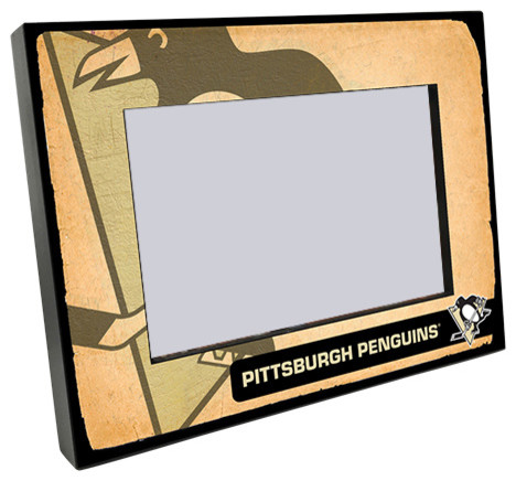 Pittsburgh Penguins Vintage Style Wooden 4x6\