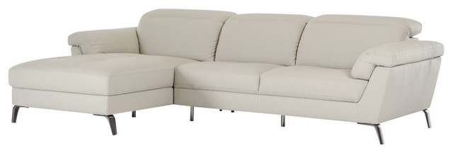 Edelweiss Sectional Sofa, Light Gray.