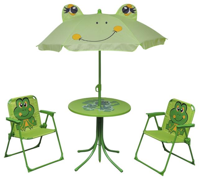 VidaXL 4-Piece Frog Design Kids' Garden Furniture Set