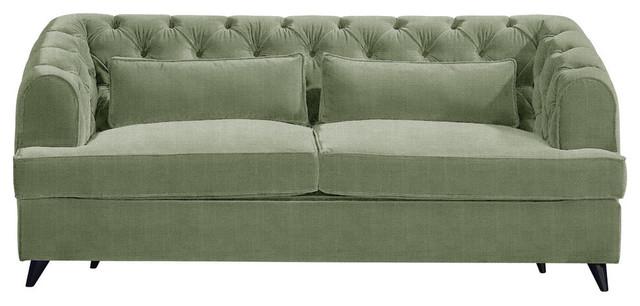 Earl Grey Sofa Bed, Sage, 2-Seater, 113x186 cm