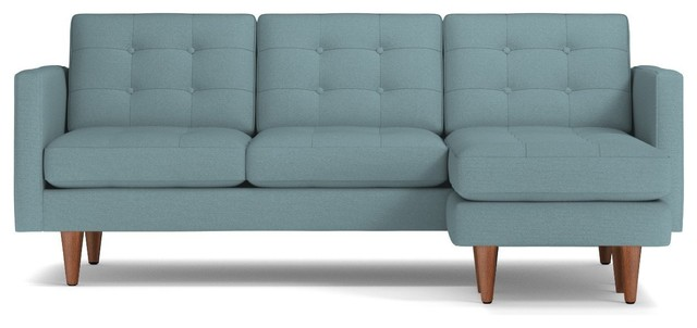 Lexington Reversible Chaise Sofa, Cloud Velvet