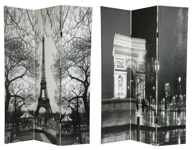 Tall Double Sided Paris Room Divider - Eiffel Tower/Arc De Triomphe - Shop Houzz 6 Ft. Tall Double Sided Paris Room Divider - Eiffel