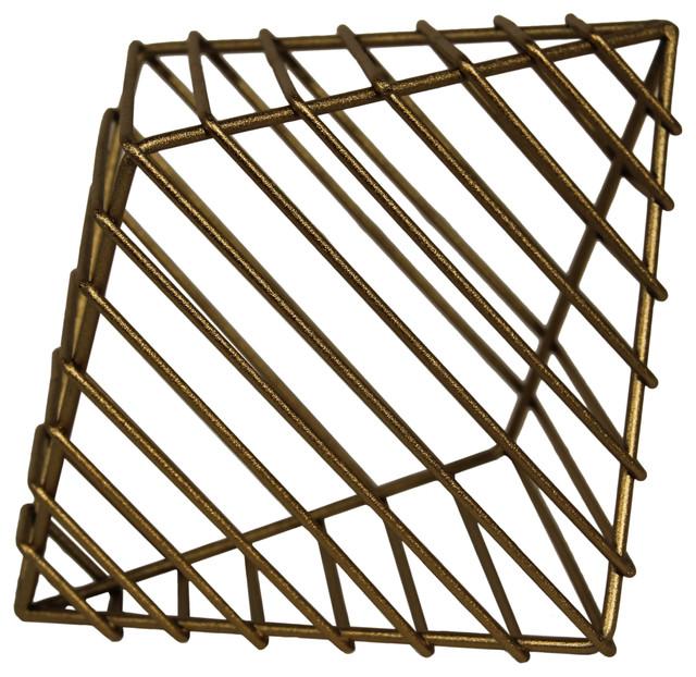 Diamond Caged Table Decor Gold Farmhouse Storage Bins And Boxes