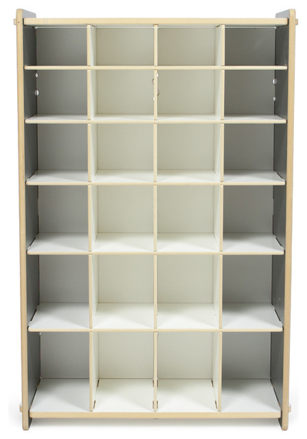 Kids Shoe Shelf, White, Progressive Contemporary Shoe Storage
