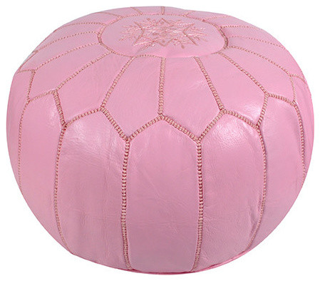Light Pink Floor Pillows : Ikram Design - Moroccan Pouf in Light Pink & Reviews Houzz