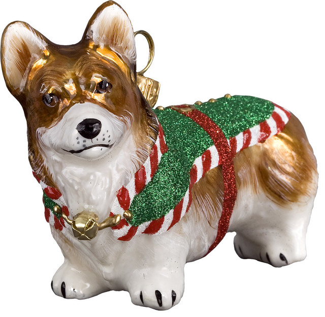 santas little yelper corgi ornament - Corgi Christmas Ornaments