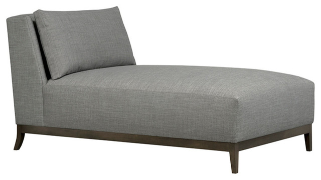 Barton Boxed Back Chaise, Burlap.