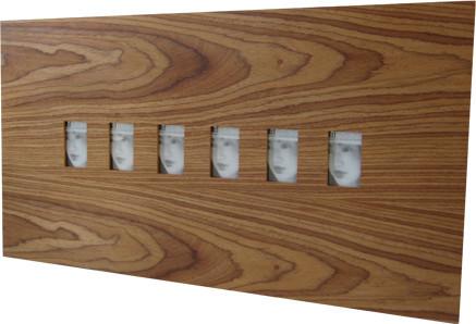 wood big frame 6 teak 2 x 3 contemporary