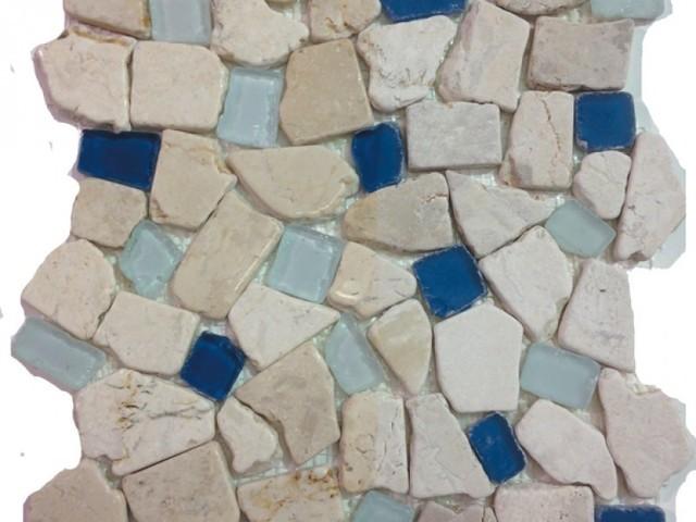 12 X12 Sea Gl Tile And Pebbles Atlantis Mosiac Blend