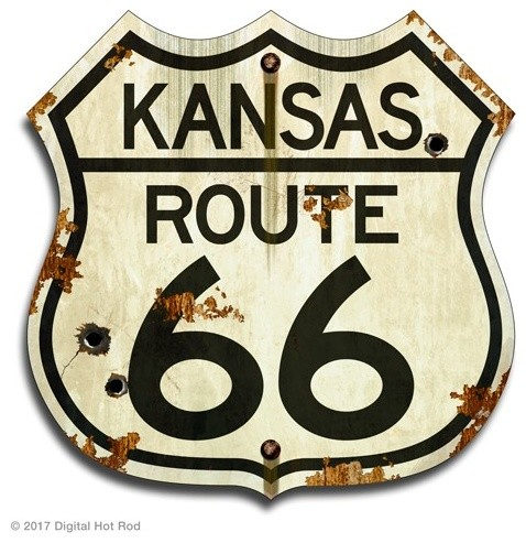 """US ROUTE 66 MISSOURI 12 X 12/"""" SHIELD METAL TIN EMBOSSED HISTORIC HIGHWAY SIGN"""